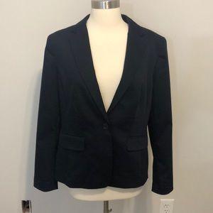 NWT Ann Taylor Single Button Blazer Size 10 Blue